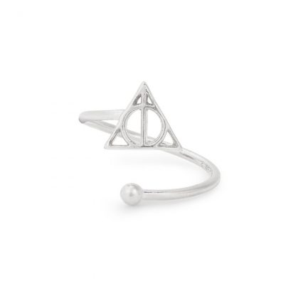 Sterling Silver Deathly Hallows symbol ring Alex and Ani