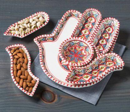 Hamsah Handpainted Serving Dishes