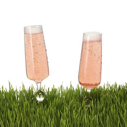 Outdoor champagne glasses spikes