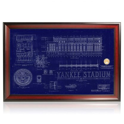 Original Yankees Stadium Blueprint Framed