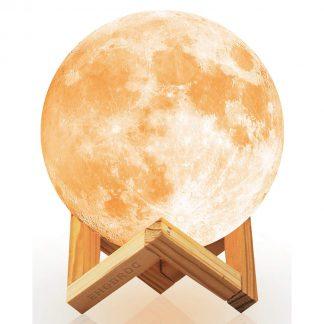 3d printed moon light usb charging cordless