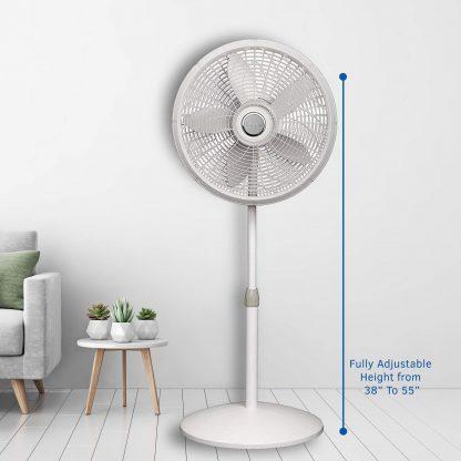 "Lasko 18"" Standup Fan Smart Plug Compatible Oscillating"