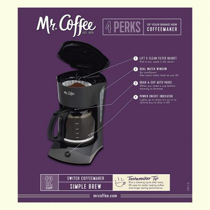 Mr. Coffee coffee maker that works with smart plugs