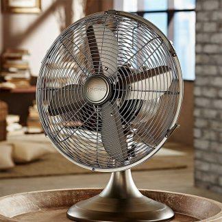 Holmes Table Fan Antique Look Fan compatible with smart plugs