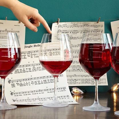 Musical scale wine glasses you can play