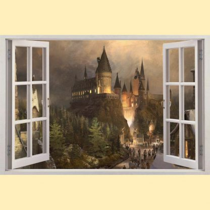 Harry Potter window to Hogwarts illusion decal