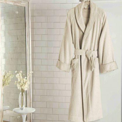 Frette Unito Shawl Collar Luxury Bathrobe