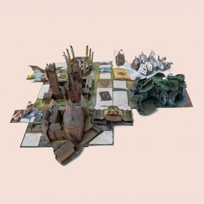 Harry Potter Pop-up Book - Hogwarts Castle, The Forbidden Forest, the Quidditch pitch, and Hogsmeade