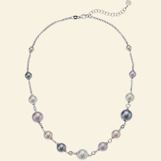 Majorica multicolor pearl and sterling silver necklace Amazon Prime