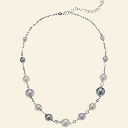Majorica multicolor pearl and sterling silver necklace Amazon Prime