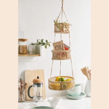 3 Tier Hanging Woven Fruit Basket from Urban Outfitters