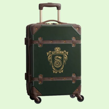 Harry Potter Luggage - Slytherin Carry on rolling suitcase from PB Teen
