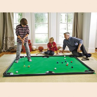 Putting pool table combo game from Hammacher Schlemmer
