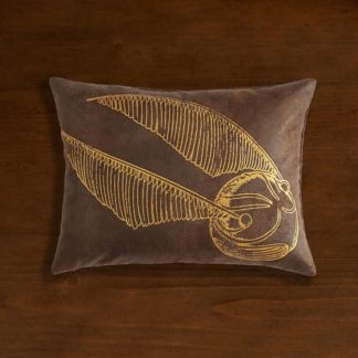 Harry Potter faux leather Golden Snitch Pillow from PB Teen