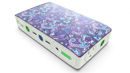 Halo charger in violet paisley with AC outlet