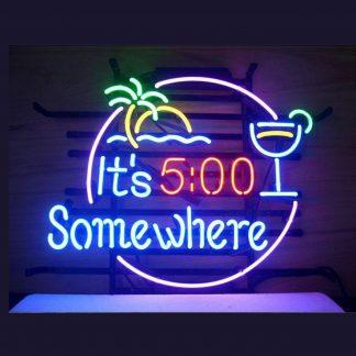 It's 5 o'clock Somewhere Neon Light on Amazon