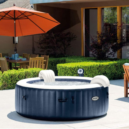Intex PureSpa Inflatable Hot Tub 6-person 75 inches in Back Yard Setting