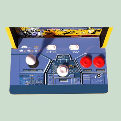 Space Invaders Counter Arcade Cabinet Buttons and Controls