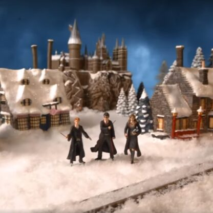 Harry Potter Christmas Village from Bradford Exchange - Harry, Ron, and Hermione