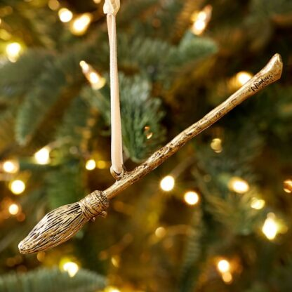 Harry Potter Gold Christmas Ornament - Nimbus 2000