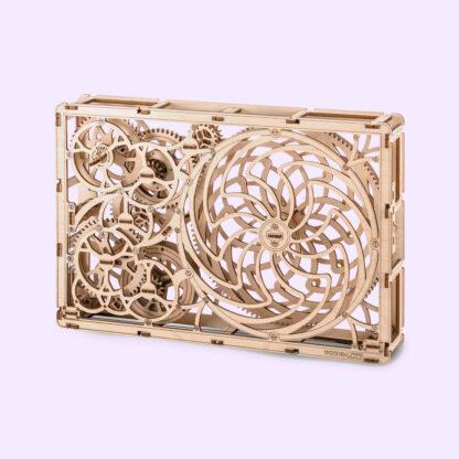 Uncommon Goods Wooden Kinetic Gears DIY Sculpture/Puzzle