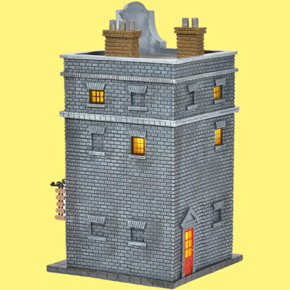 Weasleys' Wizard Wheezes Light Up Christmas Village Building from Department 56 - Rear View