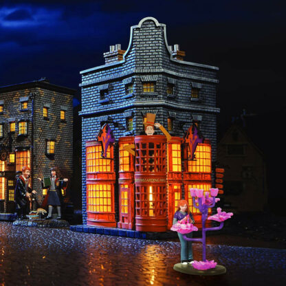 Weasleys' Wizard Wheezes Light Up Building from Department 56