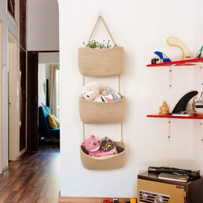 Hanging Basket to Organize Kids Toys
