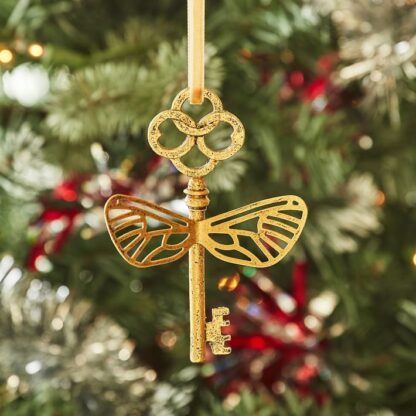 Gold Flying Key Christmas Ornament inspired by Harry Potter from Pottery Barn Teen
