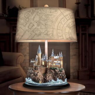 Harry Potter Hogwarts Castle Lamp with Marauders Map Shade