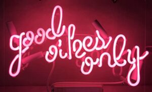 good times only pink neon sign