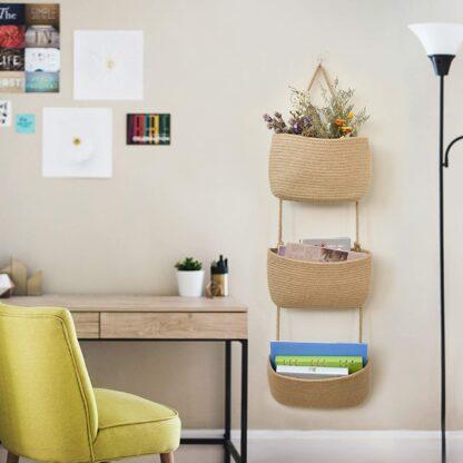 Woven Baskets Hanging on the Door